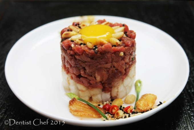 yukhoe recipe raw steak tartare tenderloin seasoning korea pear soy sauce