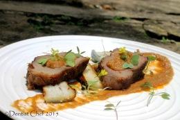 Recipe Venison Deer Steak 36 Hours Sous Vide Served with Gravy BrownSauce