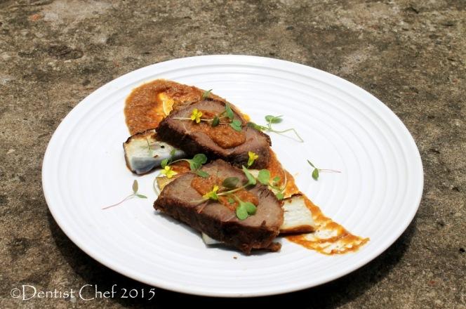 sous vide venison steak deer pan fried brown sauce