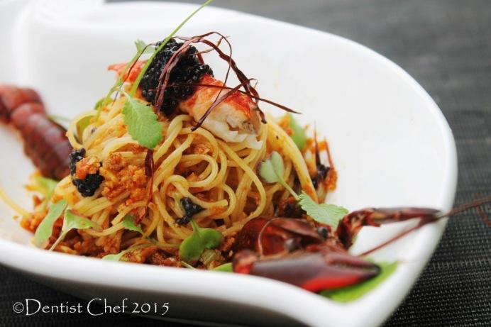 spagetti con bottarga pasta aglio olio botargo di tonno angel hair pasta lobster confit caviar beluga sturgeon pasta crayfish