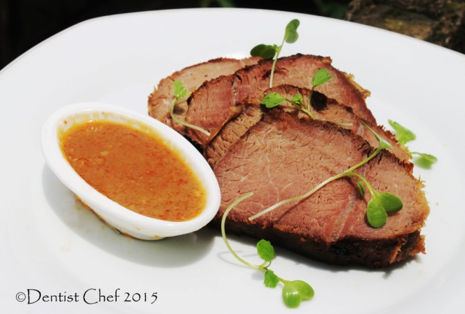 venison steak sous vide deer recipe slow cooked reindeer brown sauce