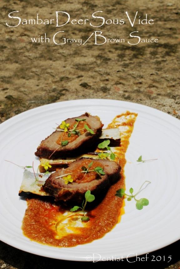 venison steak sous vide wild deer meat 24 hours reindeer steak game meat recipe steak