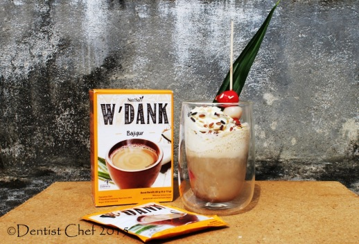 nutrisari w'dank bajigur wedang dingin cold indonesian coco pandan palm sugar drink traditional sundanese baverages