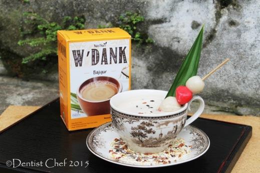 Nutrisari Wedang Bajigur w'dank indonesian traditional pandan santan coconut milk drink