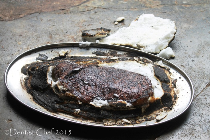 roasted beef herbs salt crust sirloin rosemarry thyme oregano basil salted meringue oven baked steak