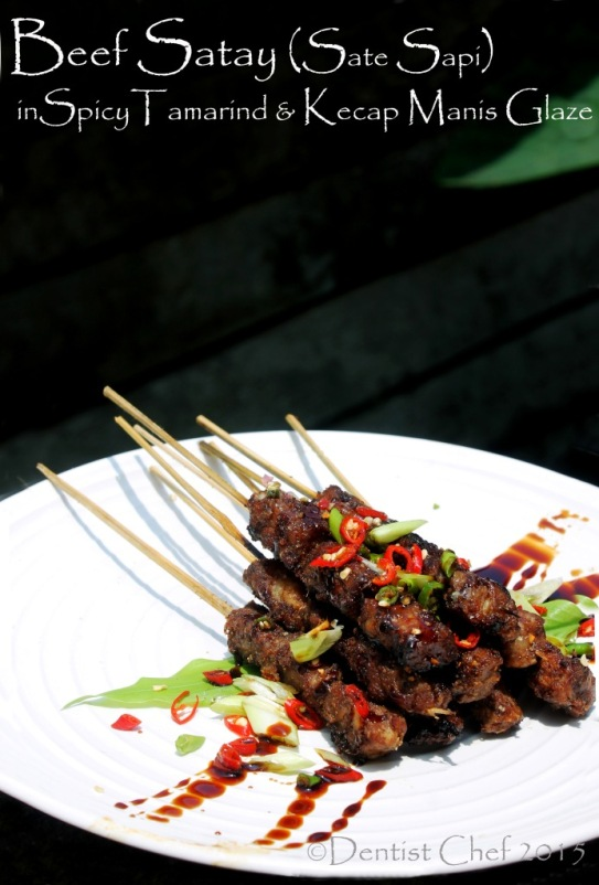 beef satay recipe skewered tenderloin tamarind glaze kecap manis marinated beef grilled sweet soy sauce sate sapi manis palembang wakdin
