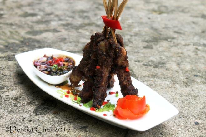 Beef satay tamarind soy sauce sate sapi manis kecap manis palembang