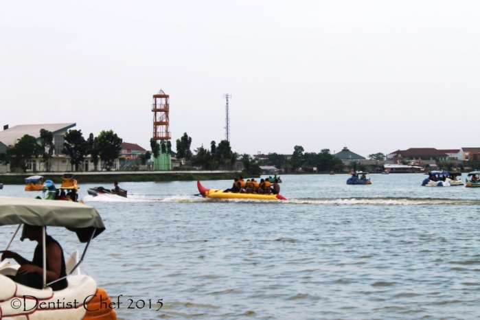 Danau OPI jakabaring palembang banana boating man made lake