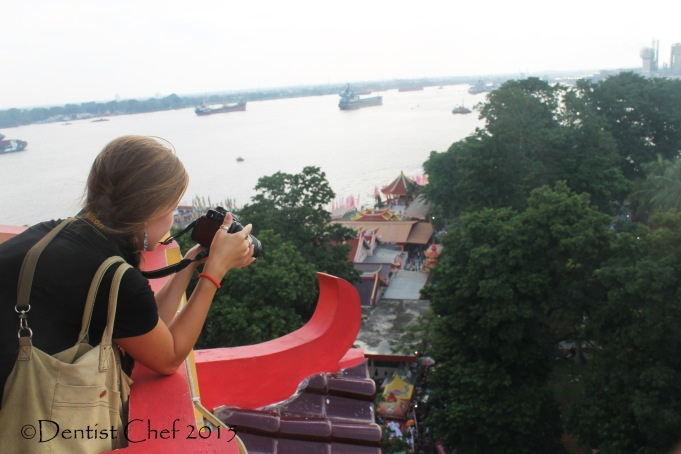 foreigner in musi river palembang south sumatra  toyota agya blog contest