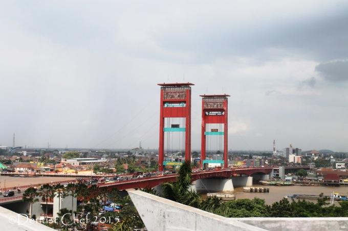 jembatan ampera dari atas monpera toyota agya blog contest