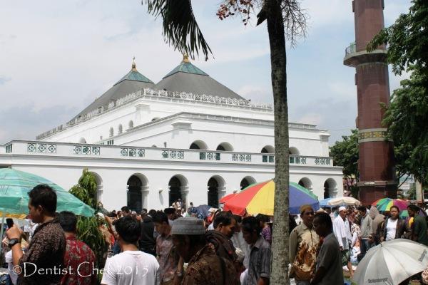 Mesjid Agung Palembang Jamaah Sholat Jumat agya