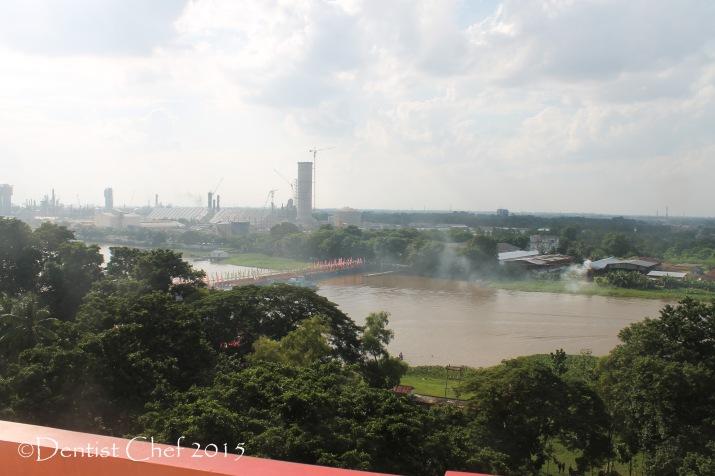 pabrik pupuk sriwijaya palembang pusri dari menara pulau kemarau kelenteng Hok Tjing Rio  toyota agya blog contest