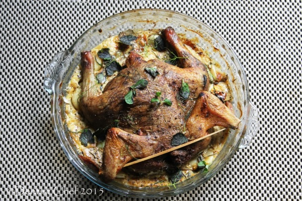 recipe baked chicken with milk yogurt ricotta cheese herbs garlic roasted crispy chicken