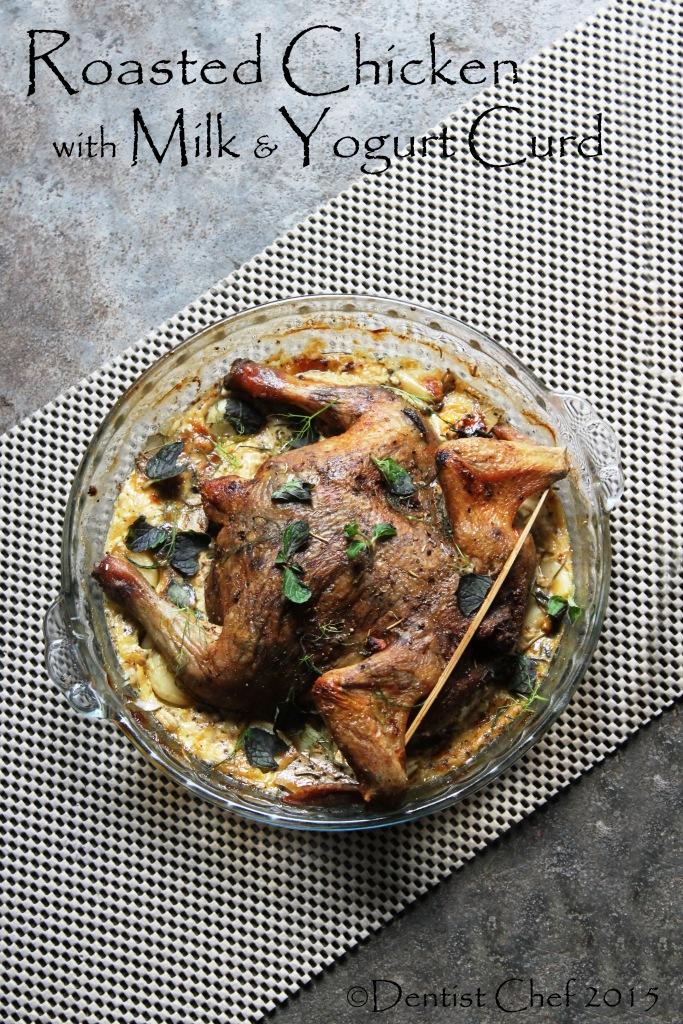 Roasted Chicken with Yogurt & Milk Curd with Ricotta Cheese & Herbs ...