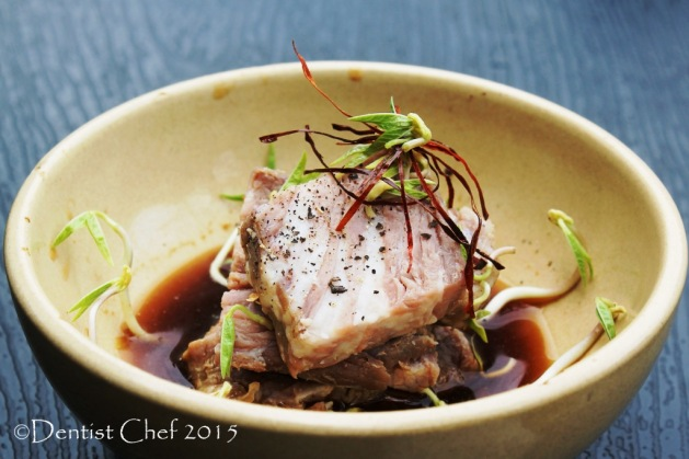 recipe slow cooked wagyu beef ponzu sauce sous vide kobe beef cube roll with kombu