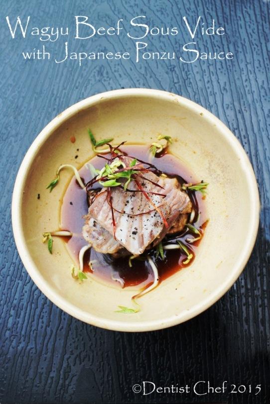 recipe wagyu beef sous vide with ponzu soy sauce japanese kobe beef kombu silgochu
