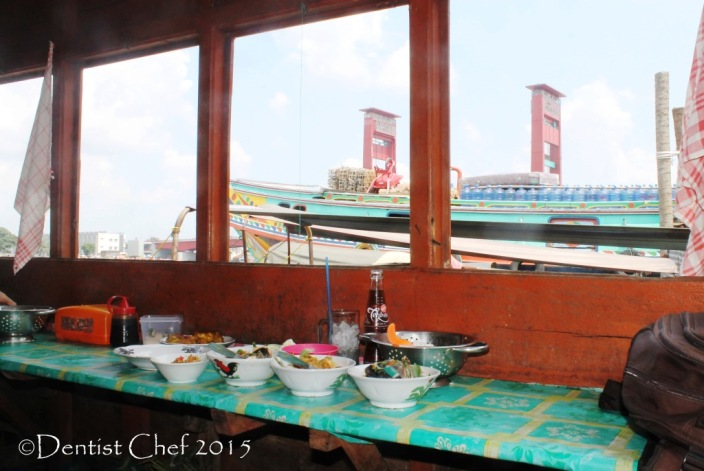 restaurant above river on a boat pindang mbak sri toyota agya blog contest