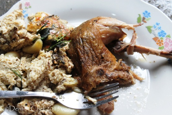 roast chicken crispy skin recipe milk yogurt curd herbs sage rosemarry, thyme