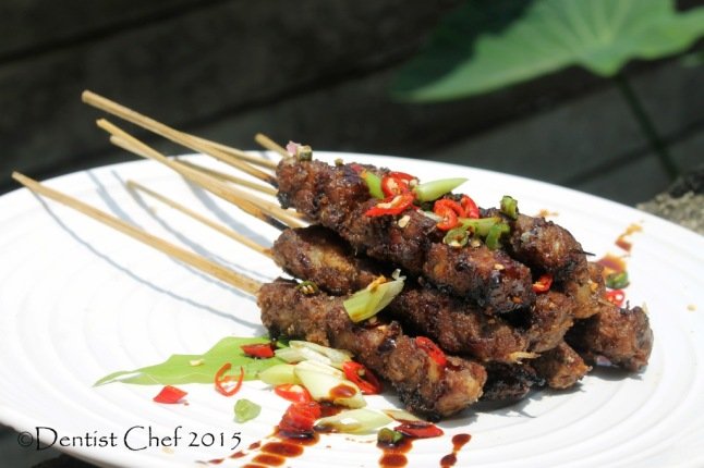 Sate daging sapi kecap manis beef satay skewer beef tenderloin marinated tamarind sweet soy sauce