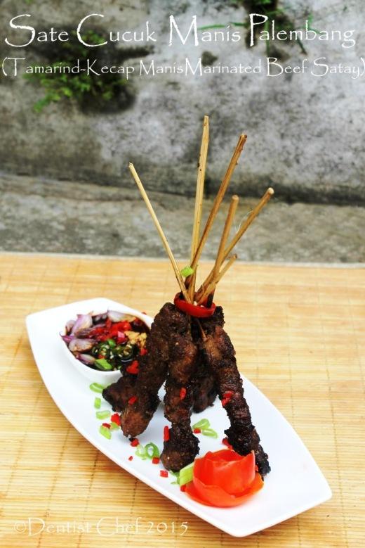 sate sapi manis palembang kecap manis asam jawa tamarind marinated beef satay grilled bbq