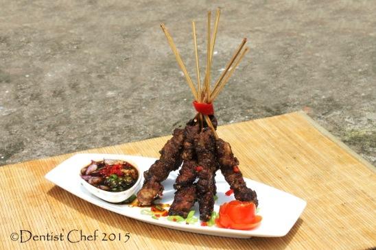 skewered beef tamarind glazed marinated sweet soy sauce sate sapi manis palembang