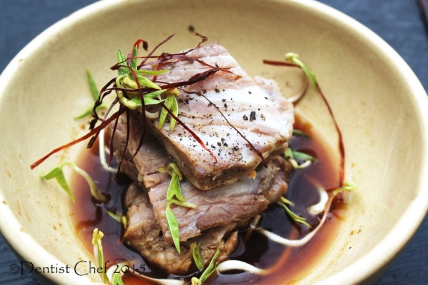 slow cooked beef wagyu ponzu soy sauce kobe sous vide with rice cooker