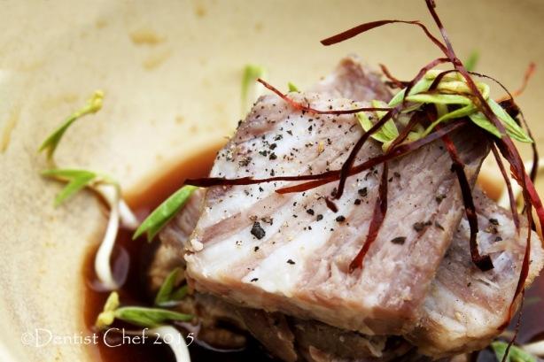 sous vide wagyu beef kobe ponzu soy sauce kombu dashi cold beef appetizer