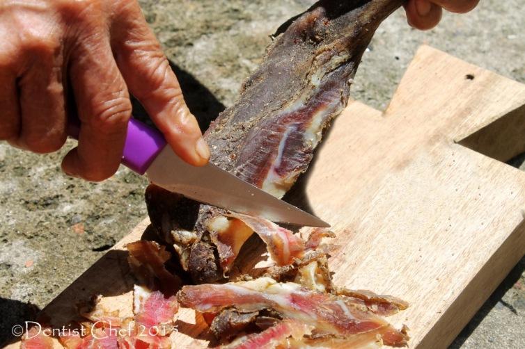carving prosciutto homemade violino di capra italian goat ham smoked mutton leg