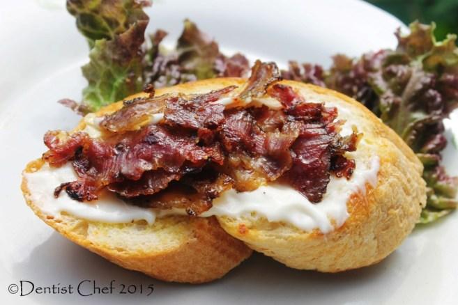 crispy fried prosciutto bruchetta mayonaise goat ham fried violino di capra