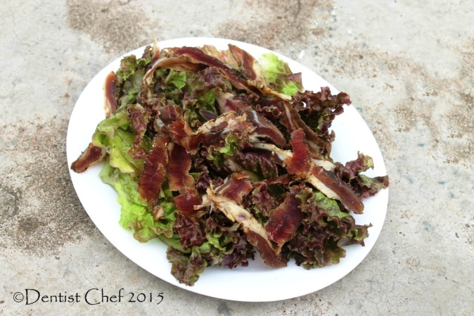 homemade prosciutto salad lettuce vinegar dressing