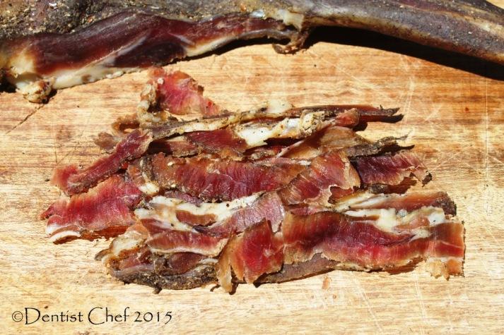 how to slice prosciutto goat ham violino di capra afumisata smoked ham mutton dry cured carved like violin