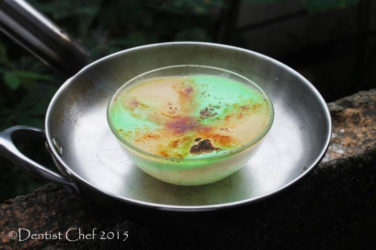 coconut custard brulee blowtorch caramel sugar coco cream custard ketan srikaya pandan