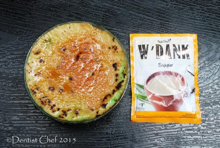 coconut milk custard pandan caramel creme brule ketan srikaya wedank bajigur