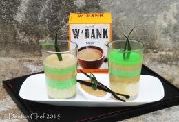 Ketan Srikaya W'dank Bajigur Lapis Pandan & W'dank Bajigur Vanilla Fla (Sticky Rice with Coconut MilkCustard)