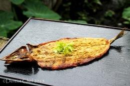 Hot Smoked Mackerel Pike Fish (Sanma or Pacific Saury Fish) with Japanese SanshoPeppercorn