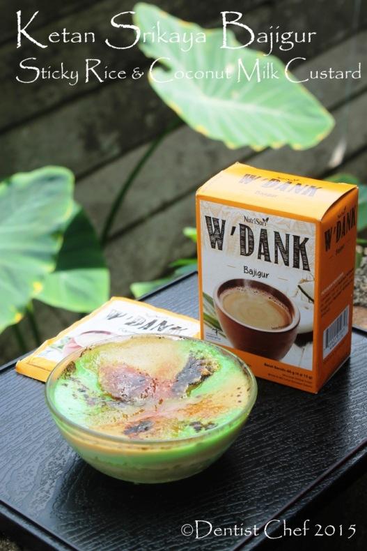 Sticky rice coconut pandan milk custard glutinous rice ketan srikaya puding wedank bajigur nutrisari
