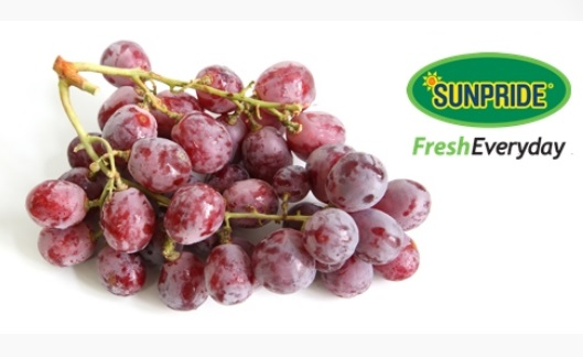 anggur sunpride red globe grape