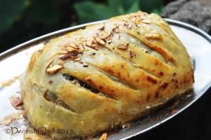 beef wellingtom recipe homemade puff pastry stuffed tenderloin spinach mushrooms liver pate foie gras prisciutto