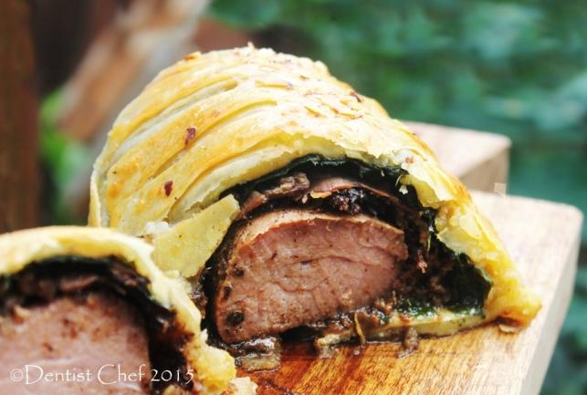 beef wellington crispy puffpastry beef tenderloin mushrooms prosciutto foie gras Boeuf en croute