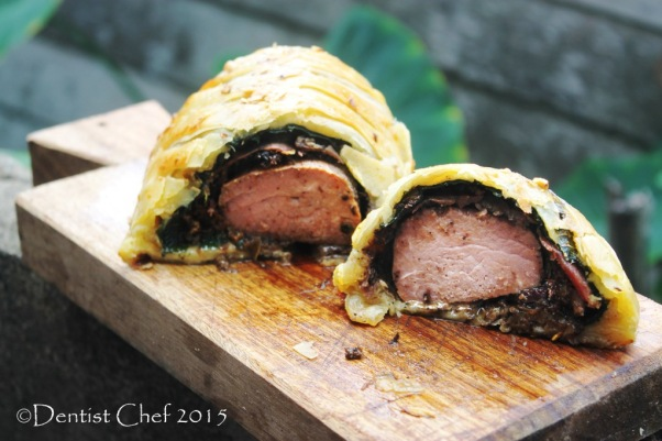 beef wellington recipe homemade puff pastry beef tenderloin mushrooms prosciutto liver pate foie gras spinach boeuf en croute