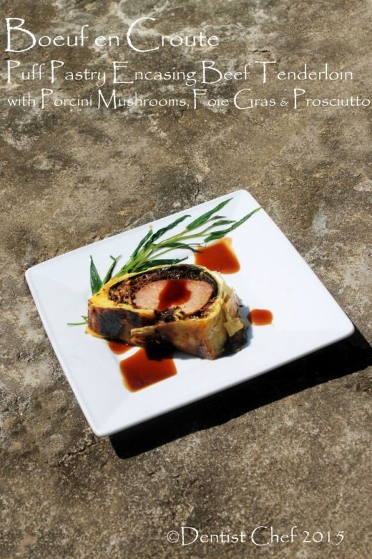 boeuf en croute beef wellingto puff pastry stuffed mushrooms foie gras prosciutto