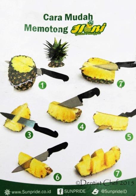 cara memotong nanas honi
