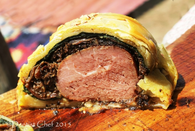 Recipe Beef Wellington Puff Pastry Tenderloin Stuffed Mushrooms Foie Gras Spinach Prosciutto Dry Aged Beef Filet en croute boeuf