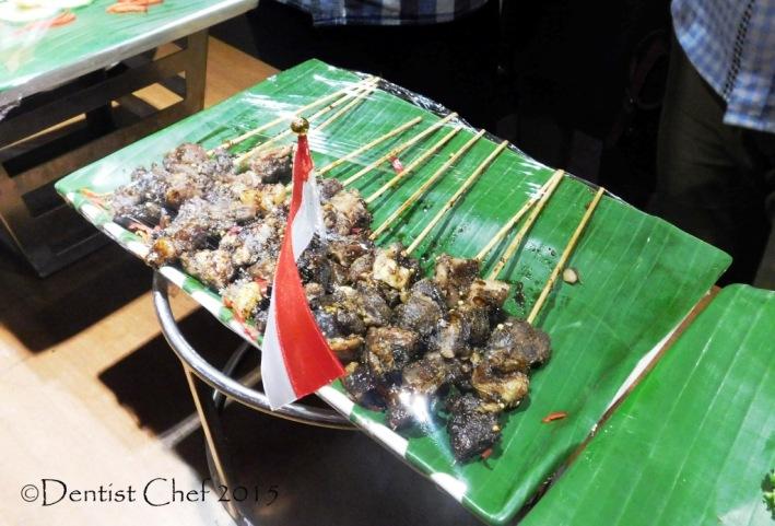 sate maranggi beef satay kecap manis javanese skewered beef sweet soy sauce Cerenti Restaurant Grand Zury BSD City Hotel Tangerang