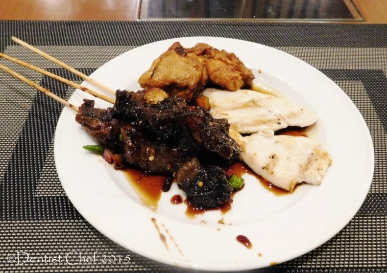 sate maranggi semarang grilled beef skewer satay kecap manis sweet soy sauce Cerenti Restaurant Grand Zury BSD City Hotel Tangerang