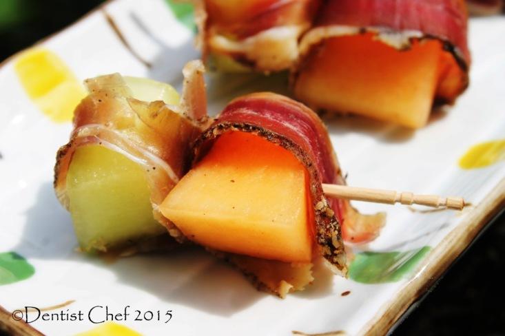 sunpride melon appetizer prosciutto wrap