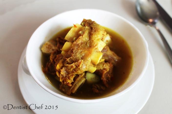 Bali Beef ribs soup balum mekuah signatures restaurant Kempinski hotel indonesia jakarta