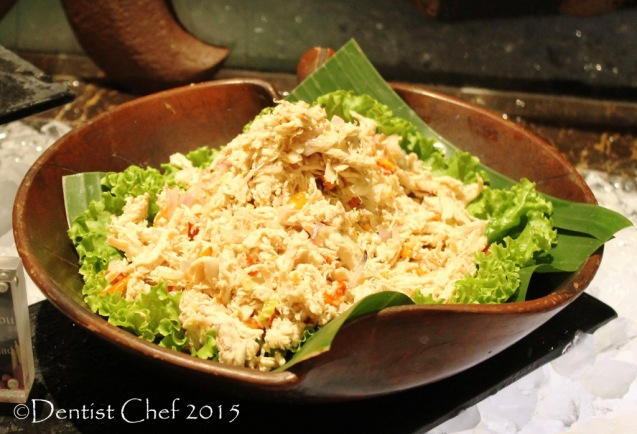 balinese shredded chicken salad ayam pelalah signatures restaurant kempinski hotel indonesia jakarta