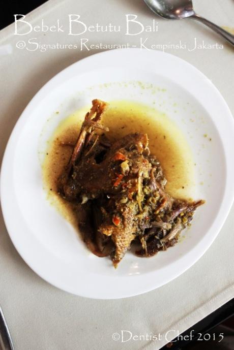 bebek betutu spicy bali duck stew tender signatures restaurant kempinski hotel indonesia jakarta