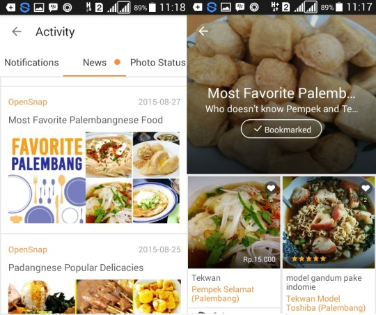 opensnap editor's pick palembang most favourite food